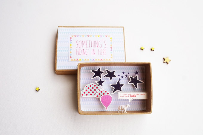 I love you to the moon and back message box