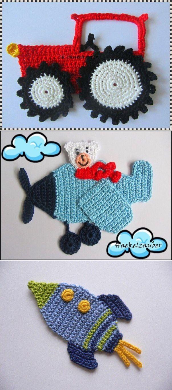 72 best Apliques al crochet images on Pinterest | Apliques de ...