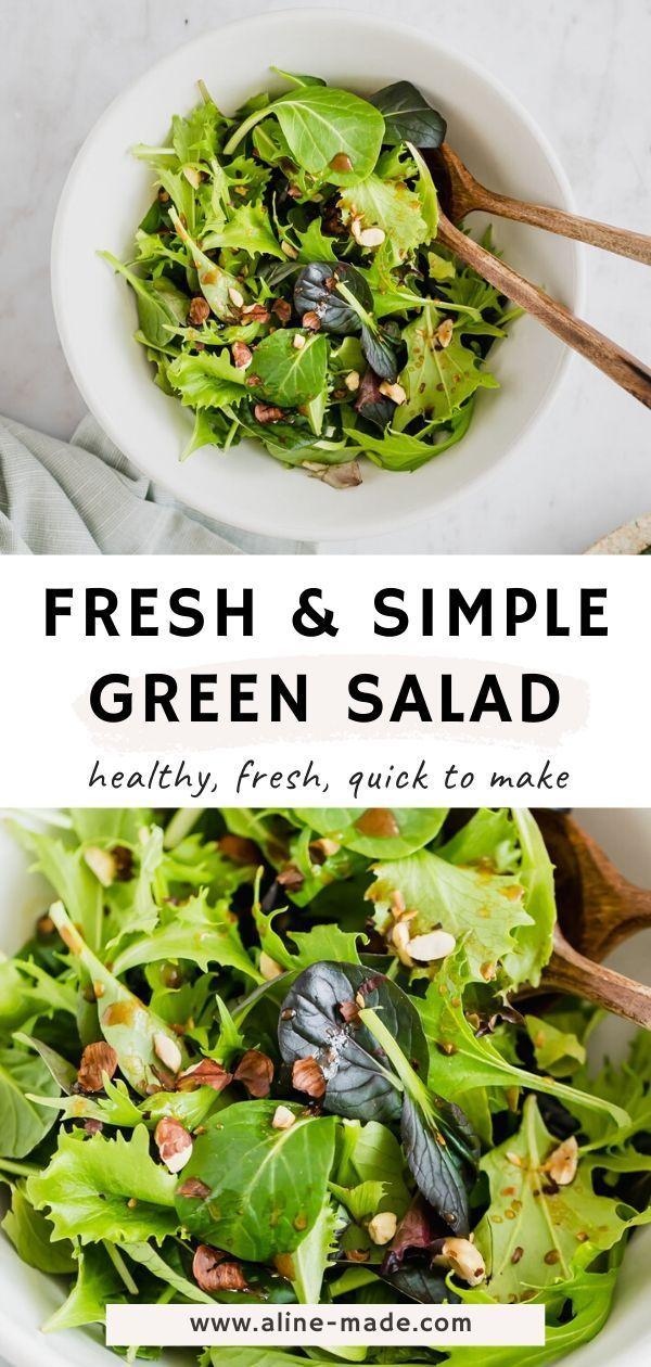 Simple Green Salad My Favorite Recipe Simple Green Salad Easy Green Salad Recipes Green Salad Recipes