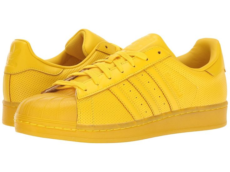adidas Superstar AdiColor Originals Athletic Shoes Yellow/Yellow/Yellow
