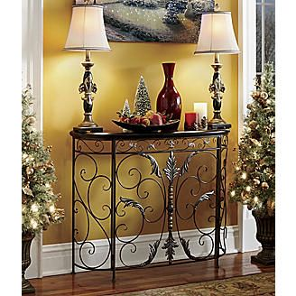 Festive Scroll Front Console From Seventh Avenue 174 Home