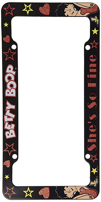 Chroma 6000 Betty Boop Glitter Plastic Frame Graphics License Plate Is A Perfect Way To Accessorize Your Vehicle