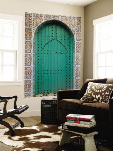 オールポスターズの キンバリー・クール「Elaborate Doorway in Old City of Asilah」ウォールミューラル