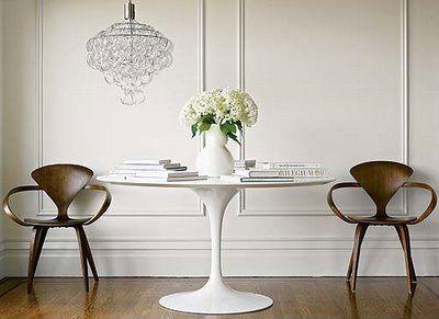 Eero Saarinen Tulip Table + Mid Century Modern Chairs