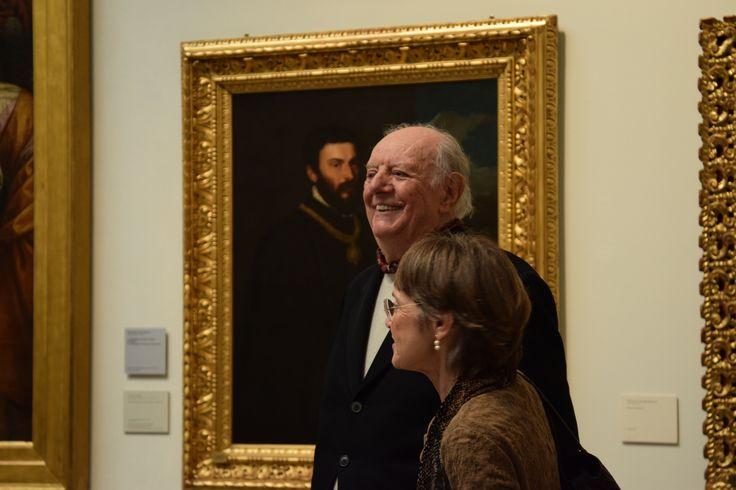 Il maestro Dario Fo e la Sopraintendente della Pinacoteca di Brera,Sandrina Bandera #dariofo #art #milano #brera #museobrera