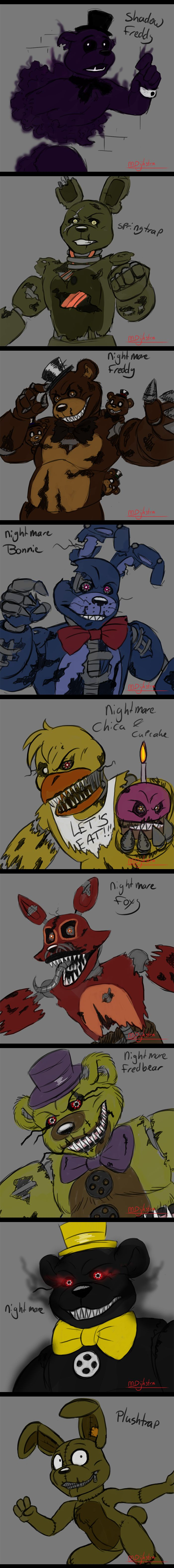 -FnaF Schetses- part 2 by martiigr5.deviantart.com on @DeviantArt