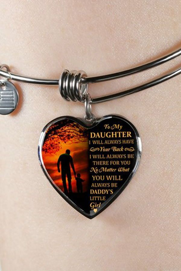 08792e71c Beautiful To My Daughter Necklace From Dad - Best Gift for Birthday,  Graduation, Military