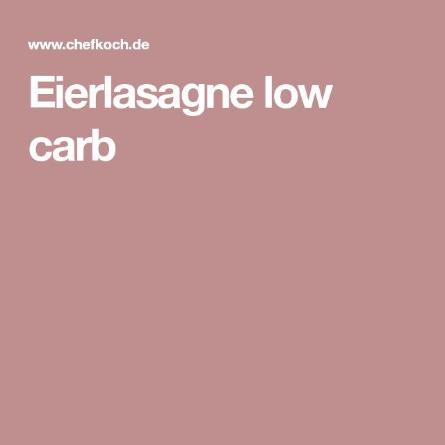 Eierlasagne low carb