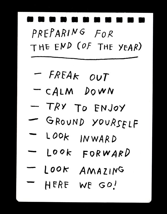 Preparing For The End (Of The Year) by Adam JK at Design*Sponge ...