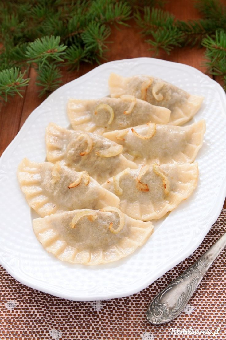 Cabbage and Mushroom Dumplings (Polish Pierogi) - Traditional Polish Christmas Dish.