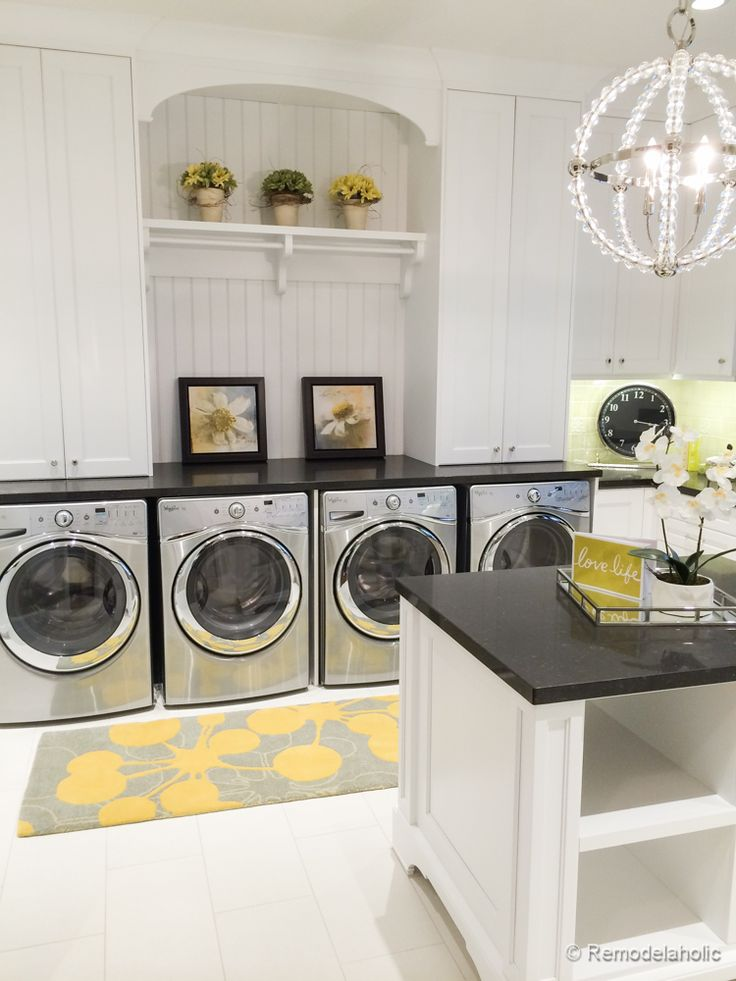 Double Laundry Room With Folding Island Fabulous Laundry Room Design Ideas  From @Remodelaholic (100 Part 88