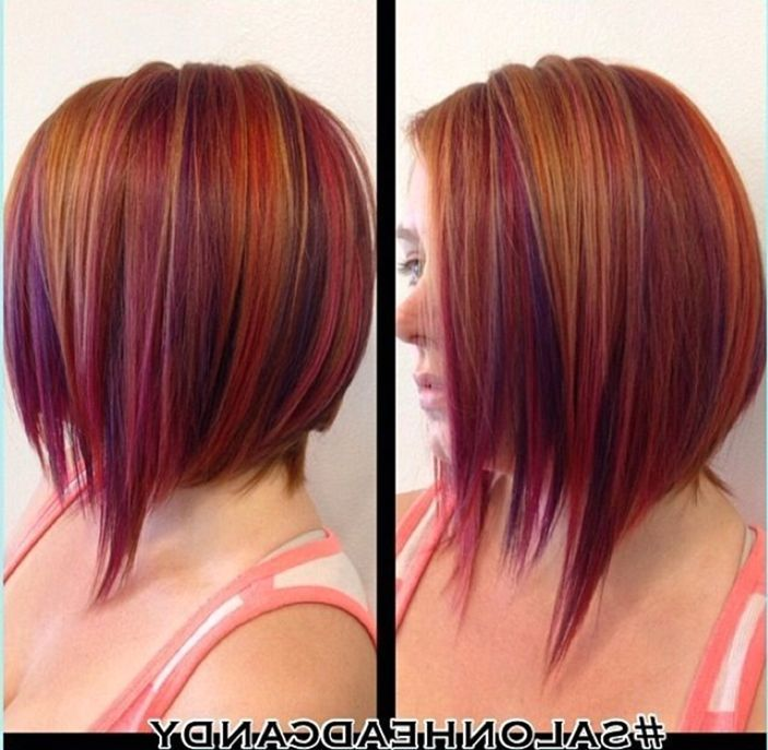 short natural red hair with purple highlights hair ideas
