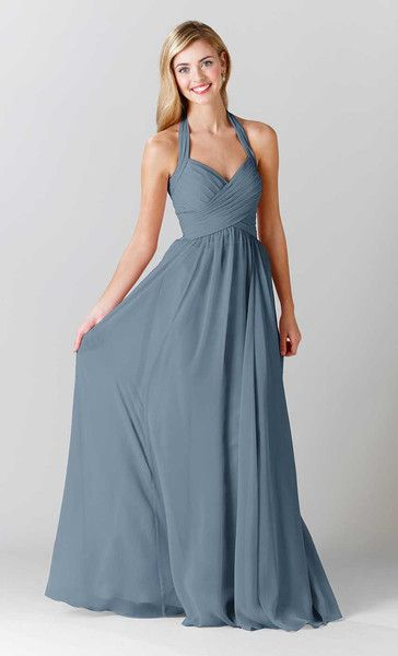 Kennedy Blue Bridesmaid Dress Violet in Slate Blue