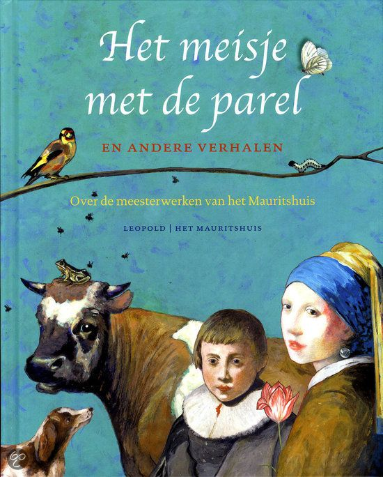 Het meisje met de parel en andere verhalen. Wat doet die kikker bij de stier van Paulus Potter? Wie heeft zich verstopt om te ontkomen aan de luizenkam? Waarom fluit het puttertje van Carel Fabritius? En wie is verliefd op het meisje met de parel? Over de meesterwerken van het Mauritshuis zijn vele verhalen te vertellen. In dit boek brengen de beste kinderboekenschrijvers de wereldberoemde schilderijen tot leven.