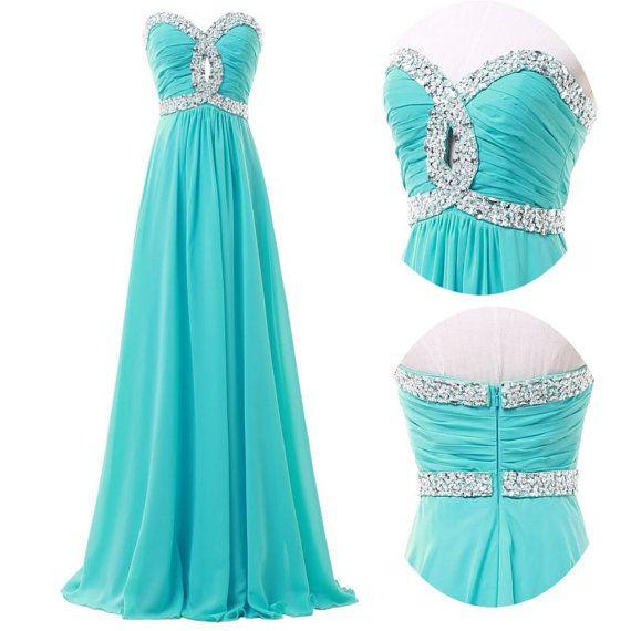 Custom Made A line Sweetheart necklace Prom Dresses, Long dresses for prom, bridesmaid dresses, formal dresses, evening dresses 2014