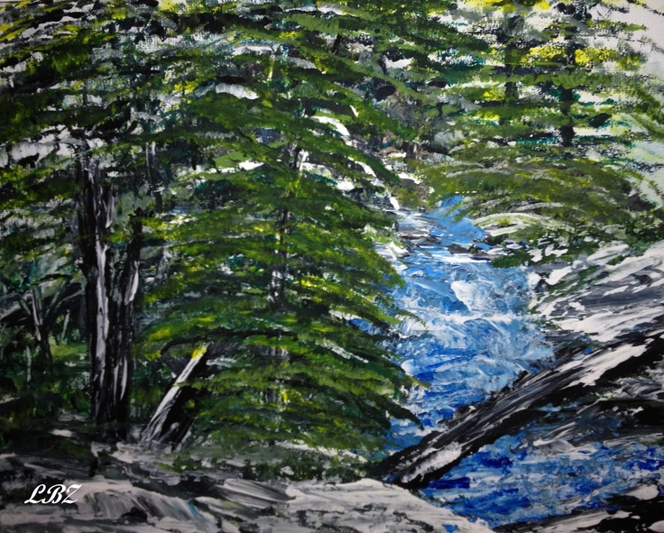 The River  Acrylic on canvas