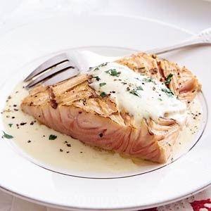 Zalm met wittewijnsaus recept