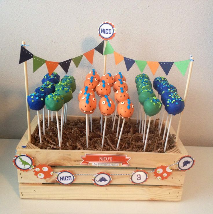 Dino Party Cake pops