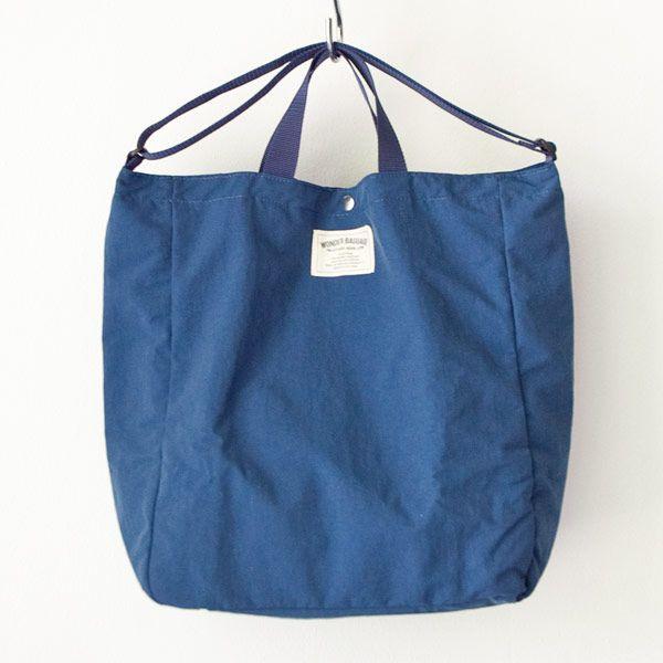 WONDER BAGGAGE ワンダーバゲージ Relax tote 2 : blue x navy リラックス トート 2 ブルー ネイビー