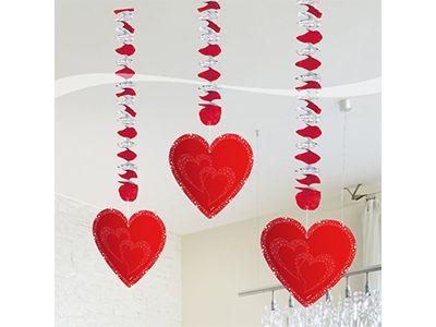 Hangdecoratie met 3 Harten