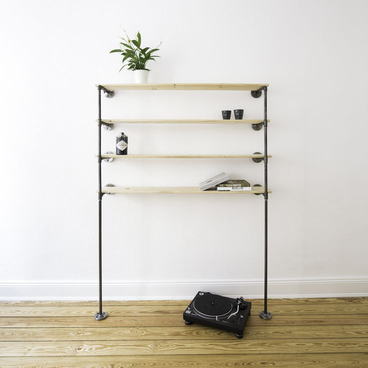 19 best steel pipe shelves stahlrohr regale images on pinterest cast iron coat storage and. Black Bedroom Furniture Sets. Home Design Ideas
