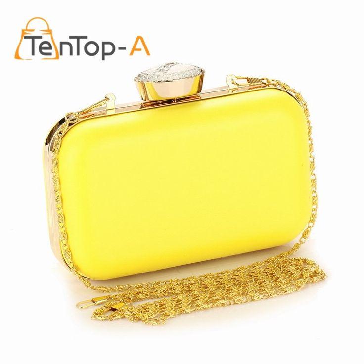 16.99$  Buy now - TenTop-A New beautiful Women's Bag Fluorescent Clutch Bag Candy Color PU Evening Handbag Ladies Diamond Party Bags Wedding Pouch  #aliexpress