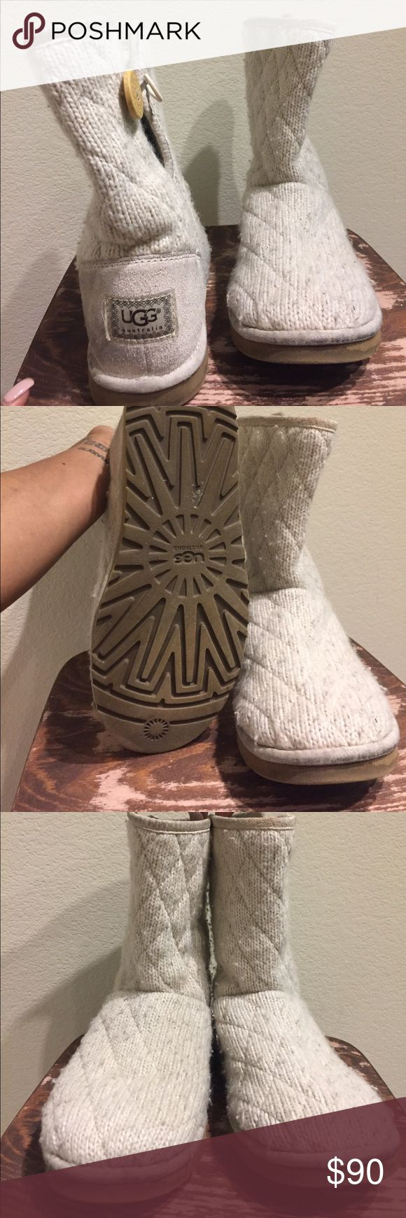 Authentic white mountain quilted UGG boots Quilted UGGS UGG Shoes Winter & Rain Boots