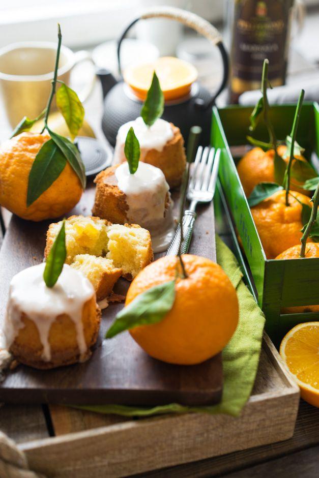 Кексы, которые мягче чем маффины и глазурь с апельсином и коньяком