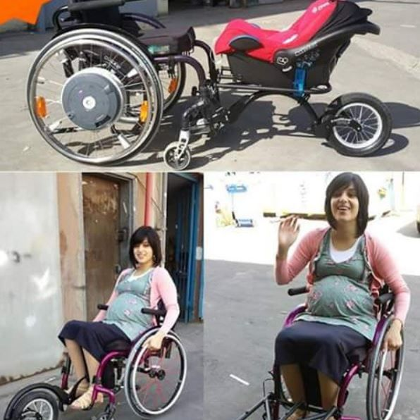 Freewheel for a stroller >>> See it. Believe it. Do it. Watch thousands of spinal cord injury videos at SPINALpedia.com