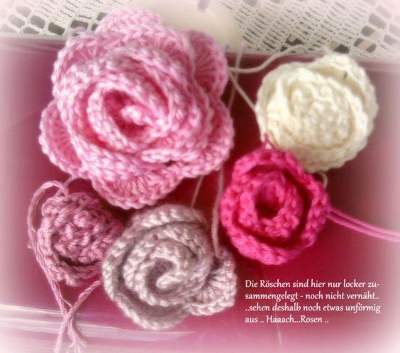 die h kel eule h keln stricken rosen h keln stricken und h keln pinterest crochet. Black Bedroom Furniture Sets. Home Design Ideas