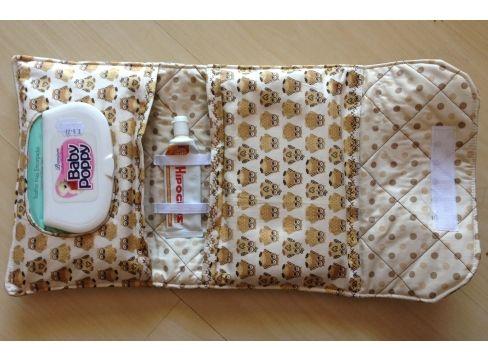 Kit Higiene em Tecido para levar Lenço Umedecido, Pomada e Fraldas!