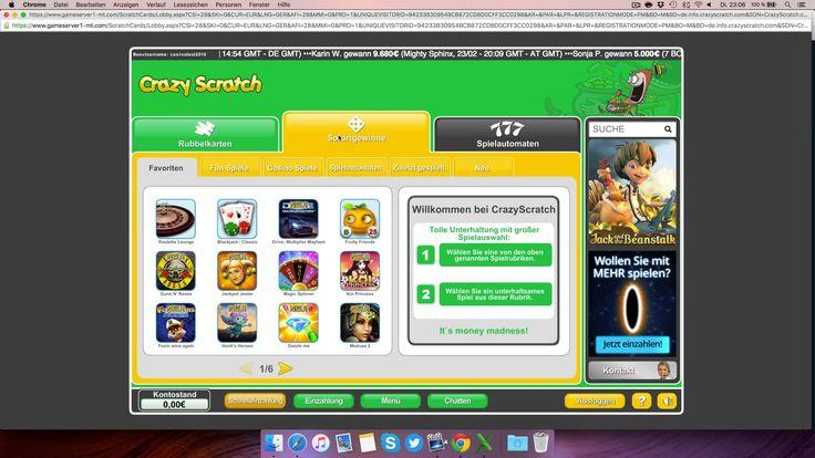 Crazy Scratch Casino Testbericht: Anmeldung & Einzahlung erklärt [4K]