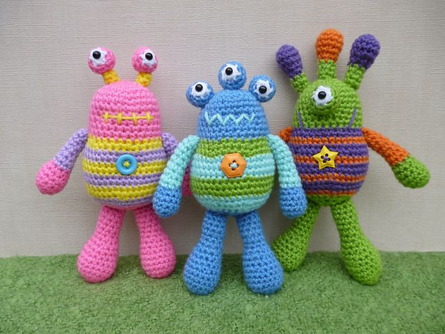 Ravelry: Bug Eyed Monsters pattern by Janine Holmes