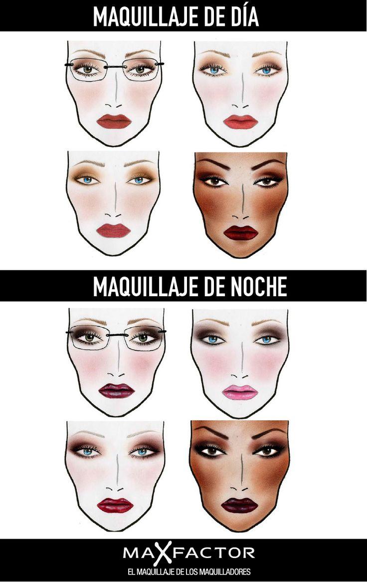 Maquillaje de día / Maquillaje de noche.
