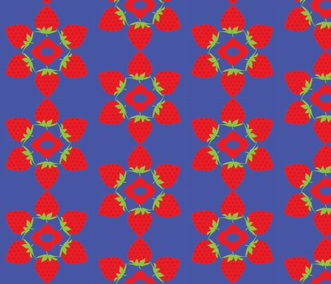 Strawberry ring fabric by susie-lotta_designs on Spoonflower - custom fabric