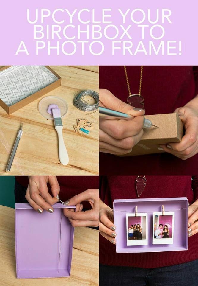 Porta-retrato - Caixa de papelão