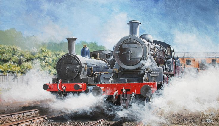 Steam. Thought I would try a go at painting trains.