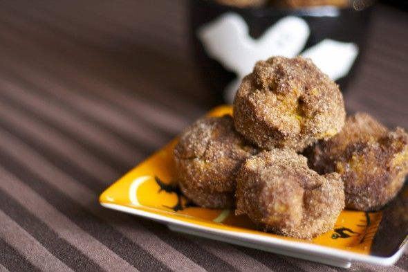 Baked Pumpkin Donut Holes | Recipes: Vegan | Pinterest