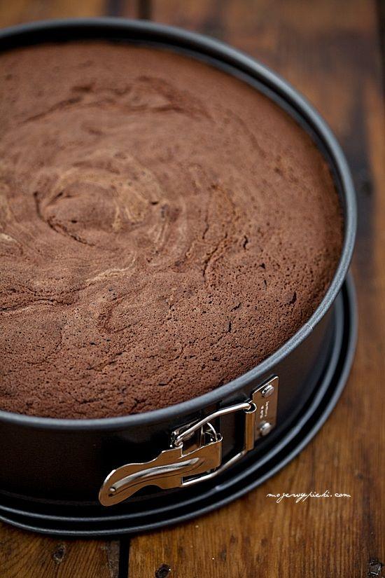 Genoese sponge cake chocolate