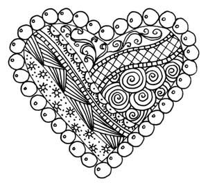 doodle heart coloring page 17 best images about cards zentangle on 4277