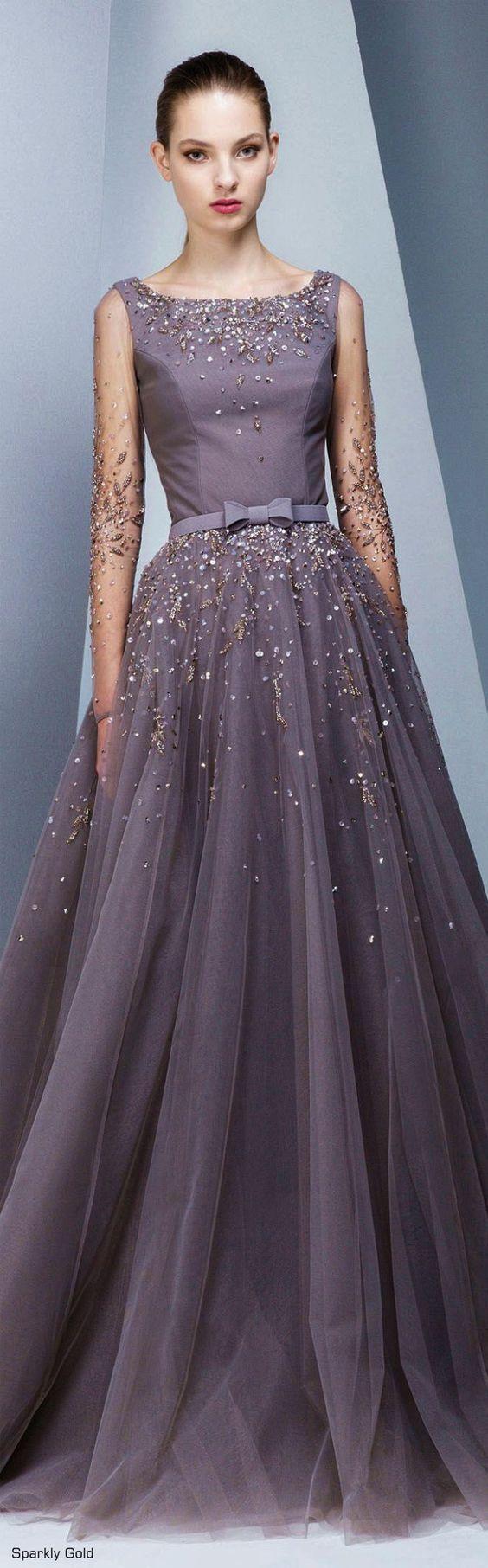 Vestido de festa longo roxo acinzentado | Grey-ish purple long dress