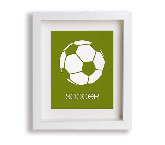 Piłka nożna Przedszkole Reprodukcja - Nowoczesny wystrój dla dzieci, Baby Boy, Przedszkole Decor, Przedszkole Sztuka, Sztuka dla dzieci, Pokój zabaw Decor, Piłka nożna, Sport Decor