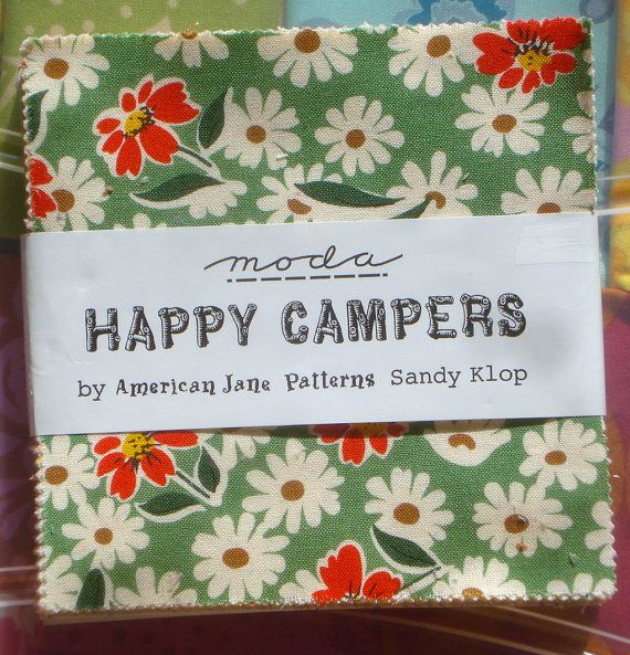 Pin By Storytelling On Happy Fabric: Happy Campers American Jane Charm Pack Moda Fabrics