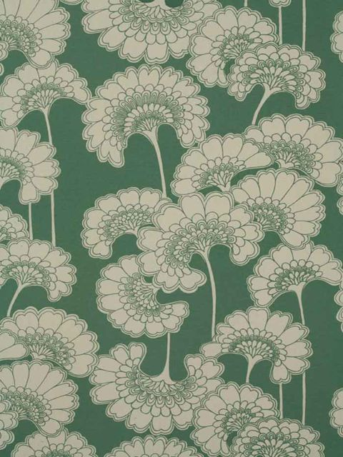 Japanese Floral from Florence Broadhurst Ivory and Celadon