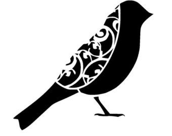 6/6 Vintage bird design 1.1 stencil. by LoveStencil on Etsy