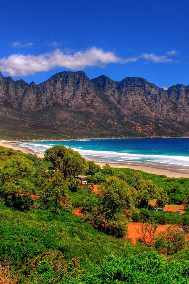 Kogel Bay, South Africa is located between Gordon's Bay and Rooi Els and borders Clarens Drive, scenic route that boasts whale watching opportunities along largely undeveloped parts of the coastline.