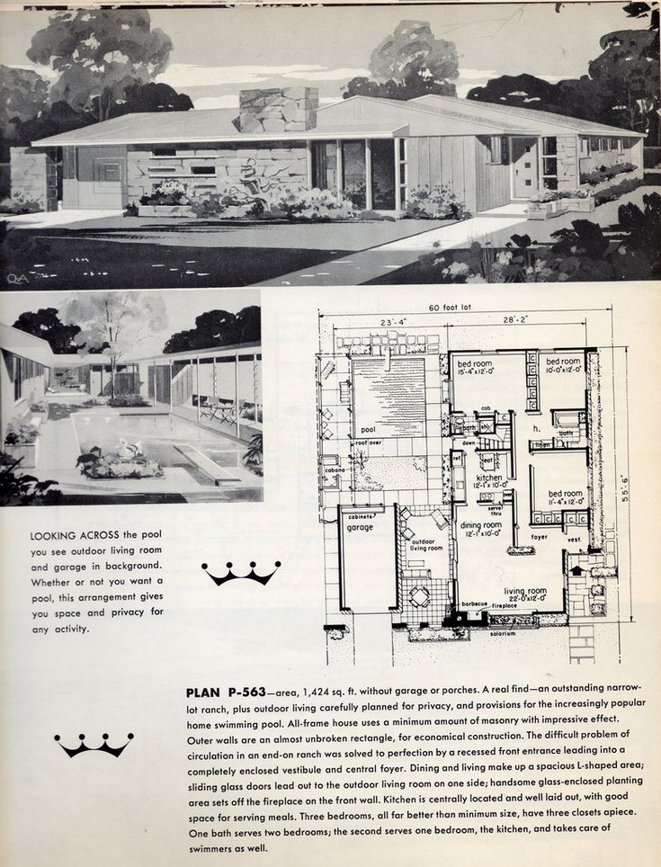 508 best atomic ranch images on pinterest atomic ranch for Atomic ranch house plans