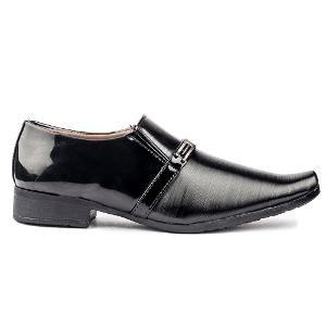 DK Derby Kohinoor Men's Faux Leather Formal Shoes - Black