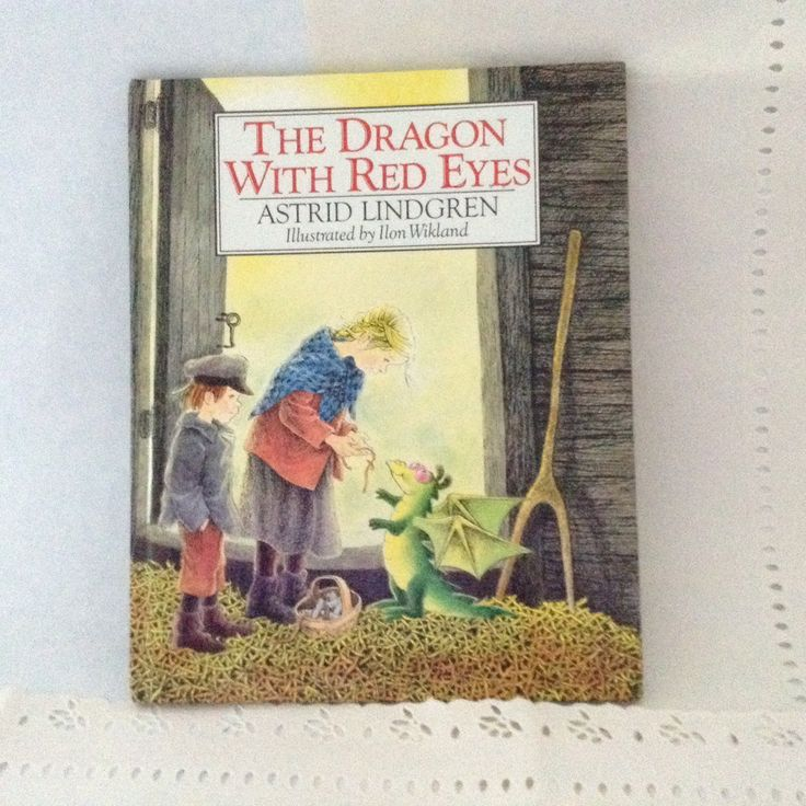 The Dragon with Red Eyes - Children's literature -Astrid Lindgren - young readers - first edition by TheWhatNaught on Etsy