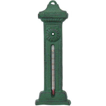 Green Cast-Iron Decorative Thermometer